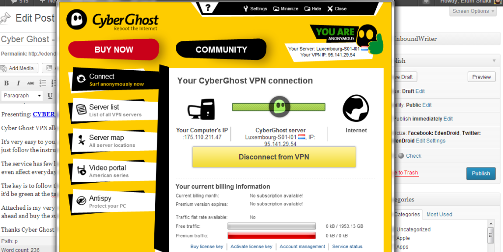 Cyber Ghost VPN Edendroid