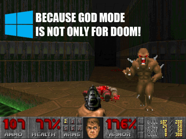 God Mode on windows pc