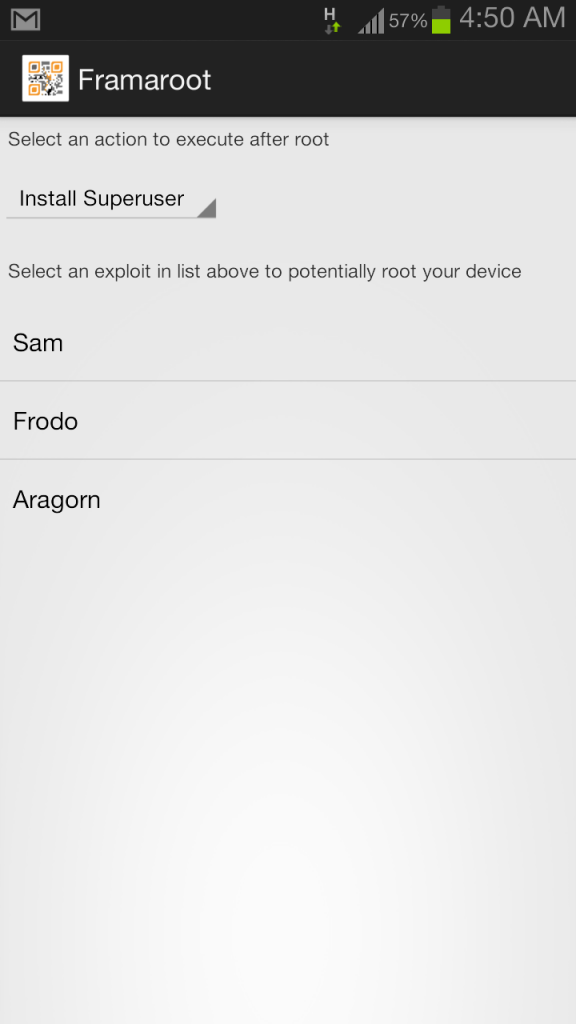 Framaroot apk root any android phone